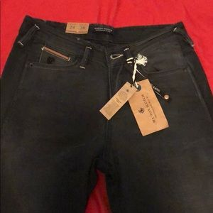 Black Denim Wash Skinny Jeans